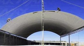 Lámina de acero Ternium pintro para construcción de arcotecho.