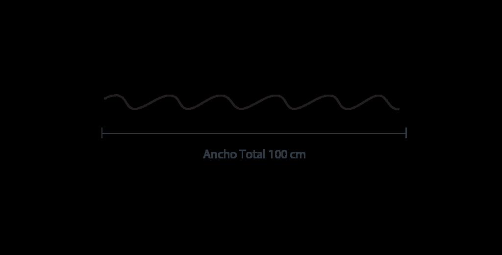 Medidas de la lámina galvateja Ternium de Max Acero Monterrey.