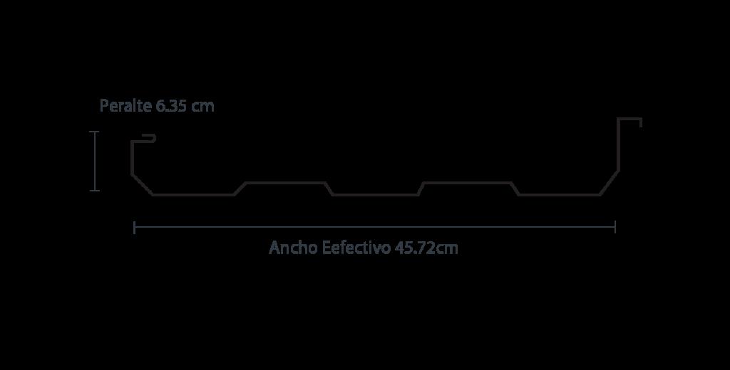 Medidas de la lámina KR-18. Venta de lámina acanalada en Max Acero Monterrey.