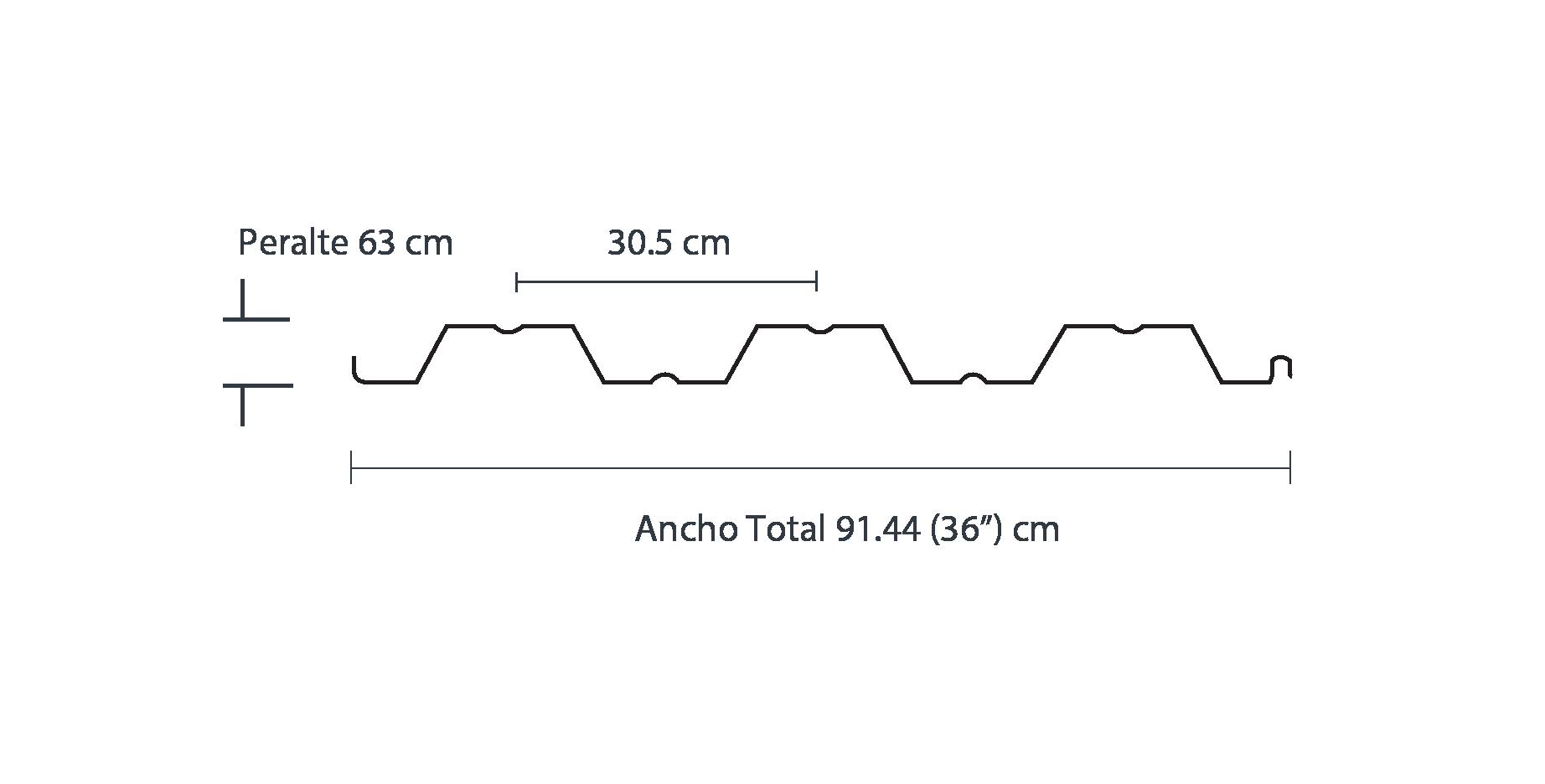 Medidas de lámina losacero; distribución de lámina acanalada losacero Ternium.