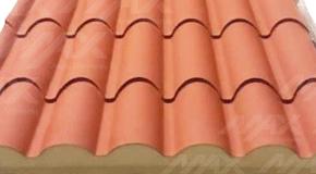 Metcoppo tipo sandwich para techos aislantes.