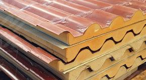 Panel Metcoppo con propiedades aislantes marca Metecno.