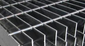 Rejilla de acero electroforjado.