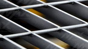 Rejillas electroforjadas de acero; gran utilidad como plataforma industrial.